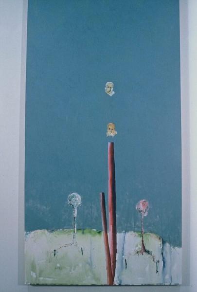 Nadin, Peter <br /> 7AM-7PM – The Doppleganger     1985<br /> Oil on canvas<br /> Gift of Martin Sklar<br /> 2007.017.001
