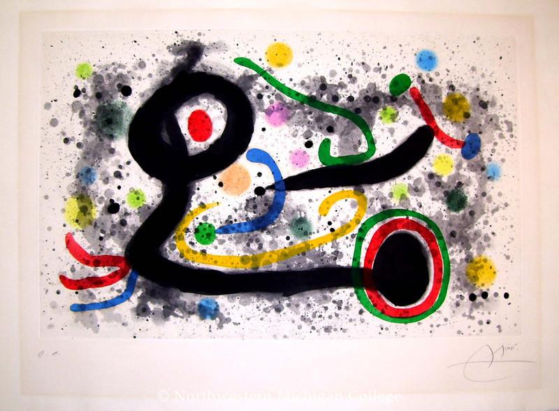 Miró, Joan <br /> Sous la Grêle     1969<br /> Color aquatint<br /> Gift of Richard R. Johnson<br /> 2006.022.003