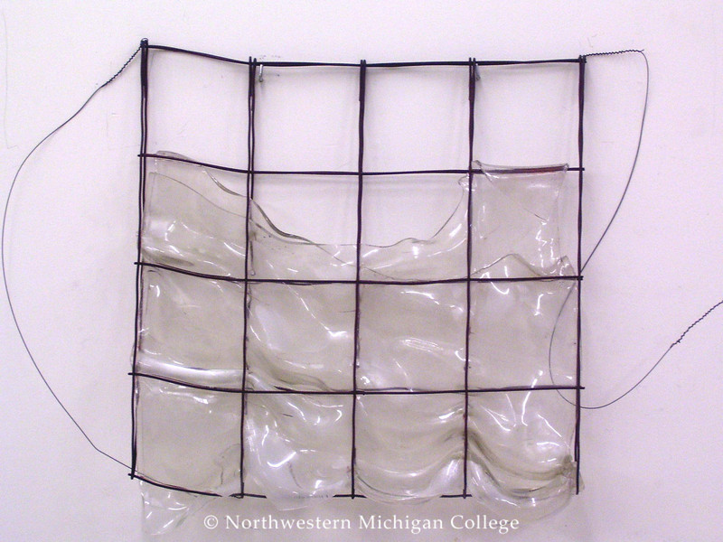 Shaffer, Mary <br /> Water White     c. 1991<br /> Slumped glass and metal<br /> Gift of Albert A. and Ellen L. Abdou<br /> 2005.004.001