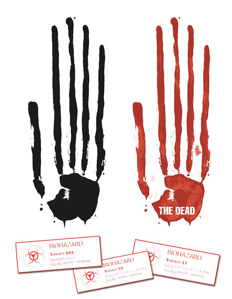 Identity | The DEAD<br /> <br /> Logo, labels and style guide for 'The Dead' zombie line of figures.