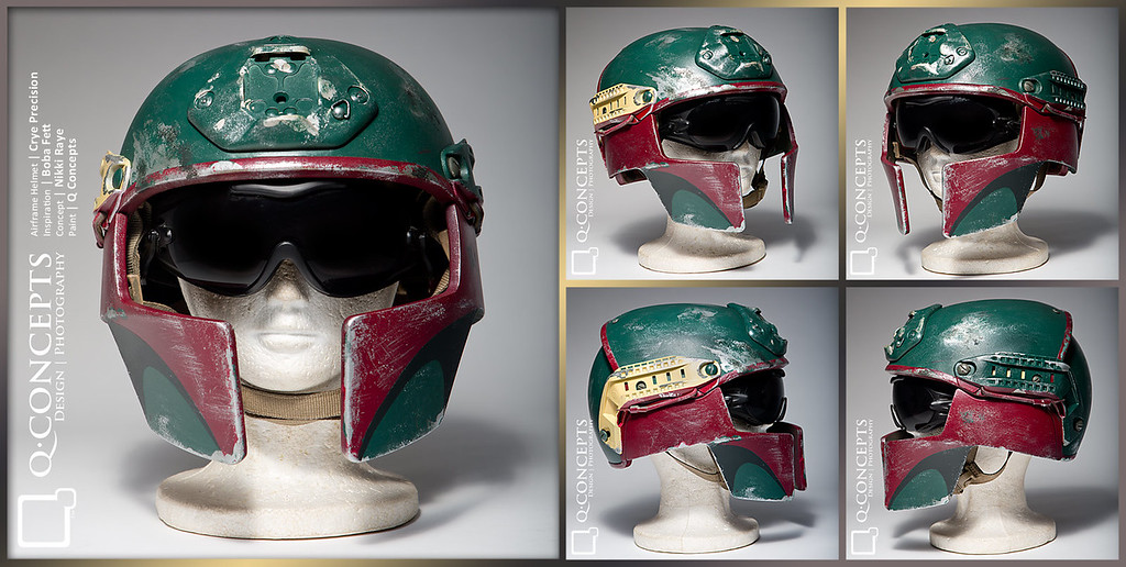 Version 1 Crye Precision AirFrame Ballistic Helmet with custom Boba Fett inspired paint job for a SWAT client who also happens to be a geek.