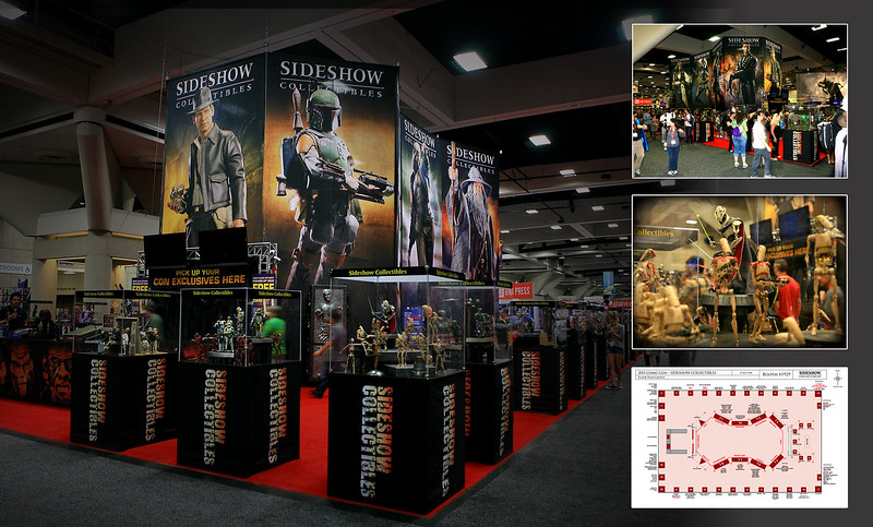 Tradeshow | San Diego International Comic-Con<br /> <br /> Ten 27-foot tall 4-color banners formed the core of the 2nd largest individual company pavilion, with the floor ringed by product podiums. Over 150 individual products displayed. Attendance is 100,000+ visitors.