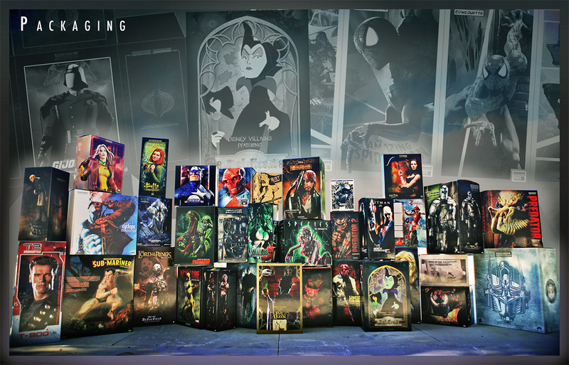 Packaging | Collector & Retail<br /> <br /> Marvel, Disney, The Lord of the Rings, G.I. JOE, Predator, Transformers, Hellboy, Terminator, and others.