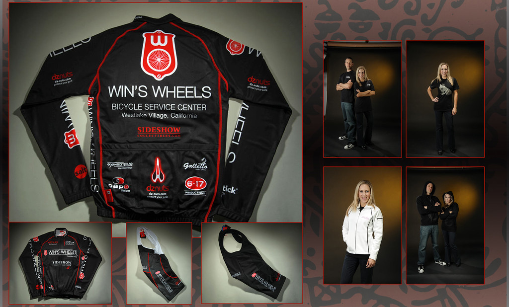 Apparel<br /> <br /> Win's Wheels Bicycle Kit (Jersey, Bib, Shorts) | Branded Apparel