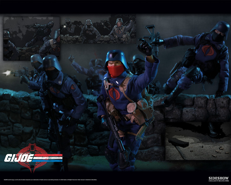 Advertising | Sideshow Collectibles | GI JOE | 1:6 scale Cobra Officer and Troopers Promotion | Art & Photo Direction