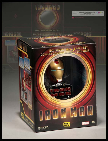Packaging | Iron Man DVD Gift Set | Domestic and International Best Buy Exclusive | Packaging was created in multiple languages