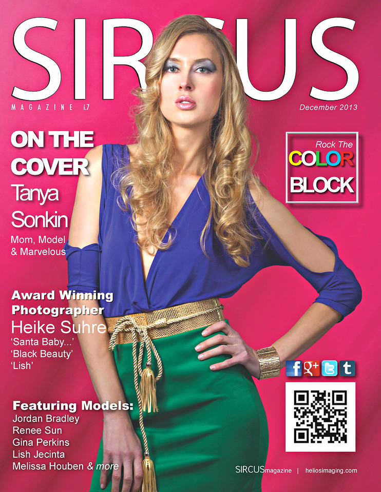 Sircus Magazine<br /> All Rights Reserved<br /> ©heliosimaging<br /> Cover Model Tanya Sonkin