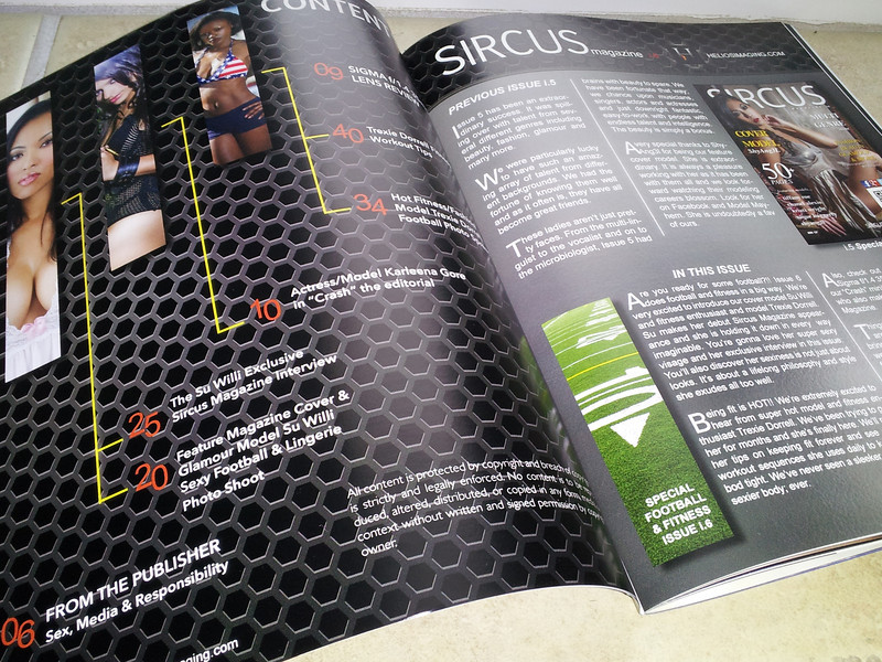 "Sircus Magazine Issue 6  <a href=""http://www.sircusmagazine.com"">http://www.sircusmagazine.com</a><br /> Table of Contents Design<br /> All Rights Reserved"