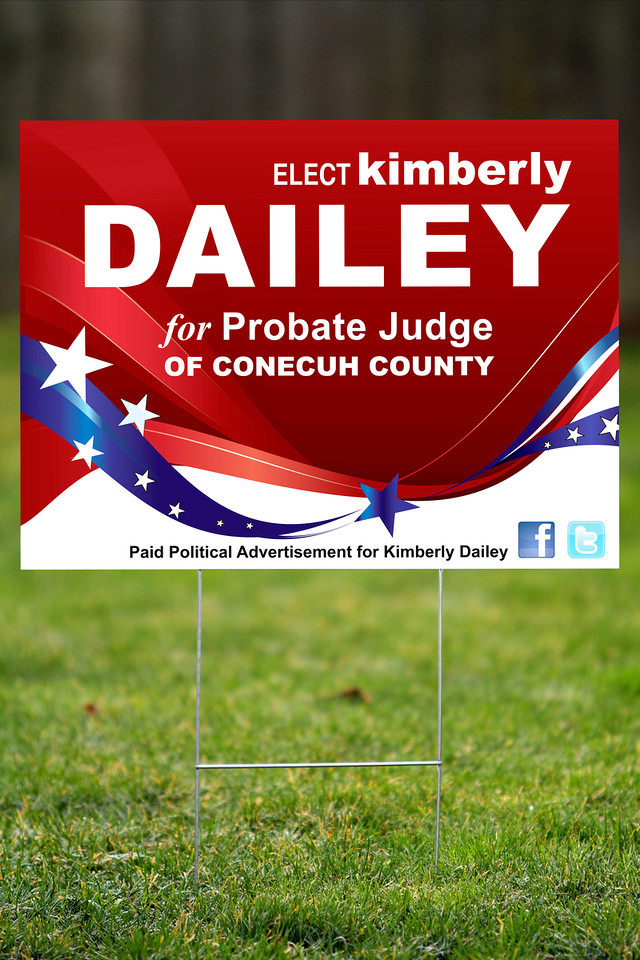 Outdoor Campaign Sign Design