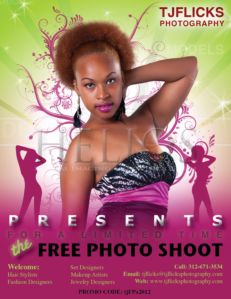 Promo Palm Card Design for TJ Flicks Photography