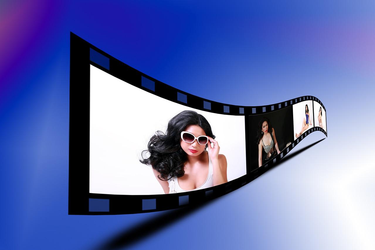 3D Film Strip Photoshop