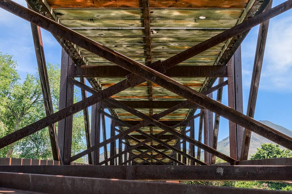 5 shot HDR of Salem Pond Park bridge taking on 5-27-13