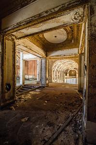Urban Decay, Detroit, Michigan, Theater Parking Garage, 8 mile movie