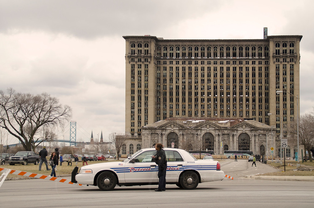old school michigan central station
