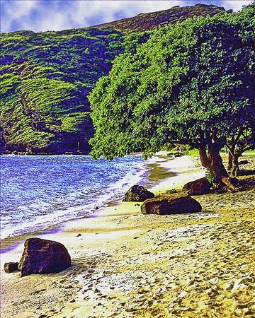 Early morning on Hanauma Bay Hawaii