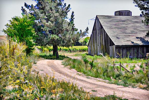 Jameson Canyon Barn and Water Tank view 2