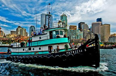 """""""Patricia S""""  Island Tug & Barge Seattle Maritime Festival Tug Boat Races"""