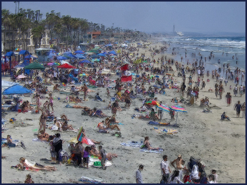 Just another day at the Oceanside Beach.
