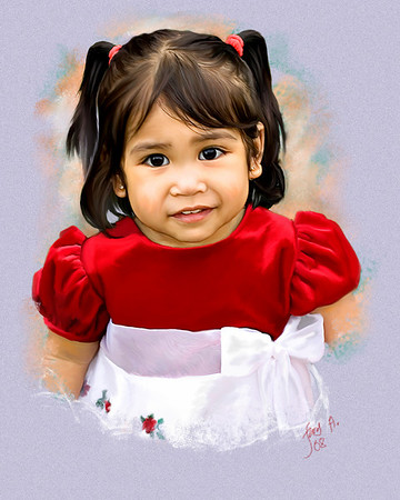 Pastel painting of Katrina on her 2nd birthday.  Click link to view original photo or see it in gallery.