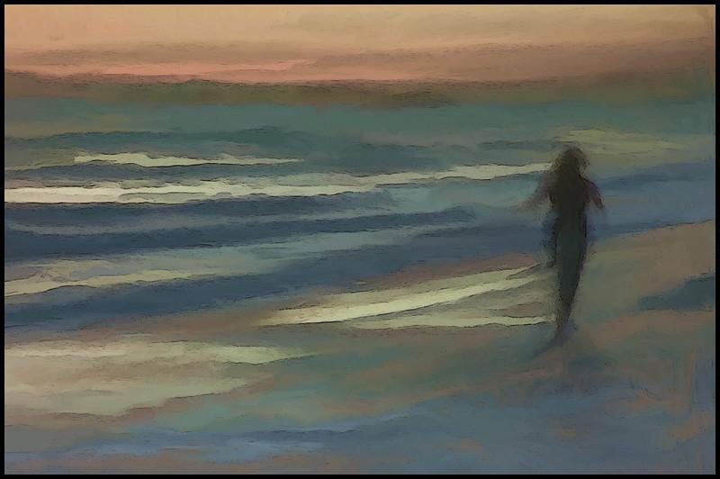 """Sunset Beach Walk"" Tamarack Beach, Carlsbad, Ca."