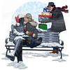 Christmas 2015 cover digital illustration for Terre Haute Living Magazine.