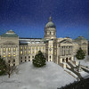 Digital painting of the Indiana Statehouse in Indianapolis, IN for State Representative Clyde Kersey. Commissioned for his Christmas card in 2016.