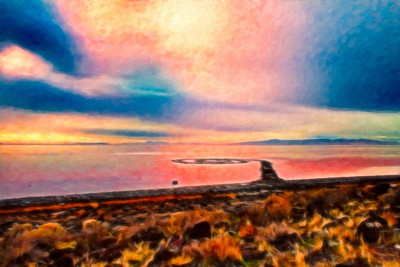 Spiral Jetty digital painting
