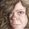 """""""Me""""  digital self portrait drawn on the Wacom Cintiq pen display.  4.10.12 NFS"""