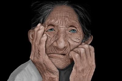 Elderly Man Days Gone By