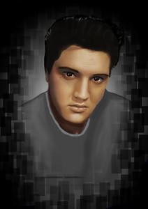 Elvis digital painting