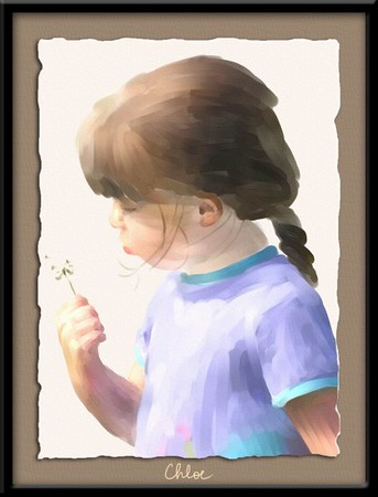 Photo done using digital watercolors in Painter Essentials 2. Mat and Frame done in Photoshop CS2