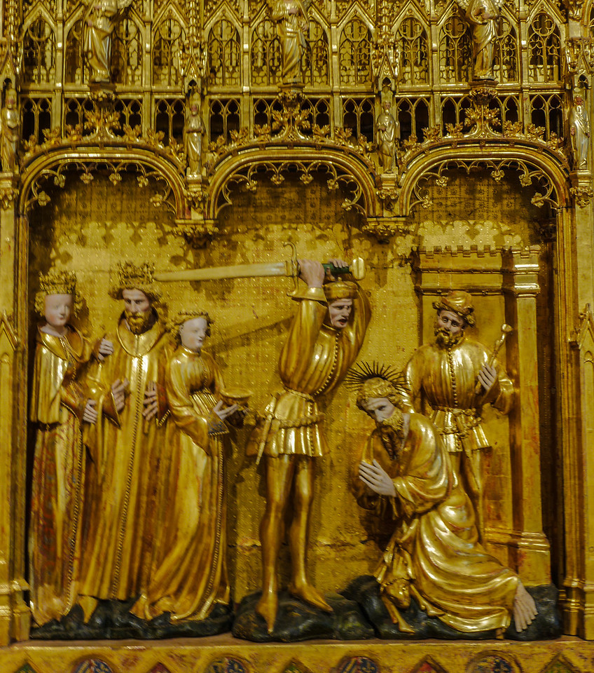 Dijon Beaux Arts Museum -The Saints and Maryrs Altarpiece - The Beheading of John the Baptist