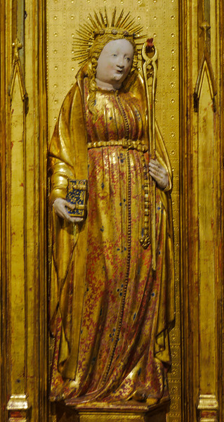 Dijon Beaux Arts Museum - The Saints and Martyrs Altarpiece - Saint Apollonia