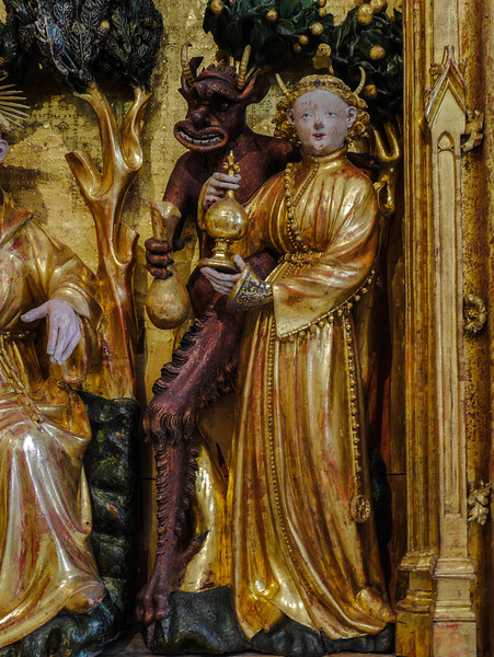 Dijon Beaux Arts Museum - The Saints and Maryrs Altarpiece - The Temptress of Saint Anthony