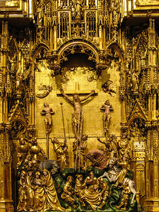 Dijon Beaux Arts Museum -The Crucifixion Altarpiece - The Crucifixion