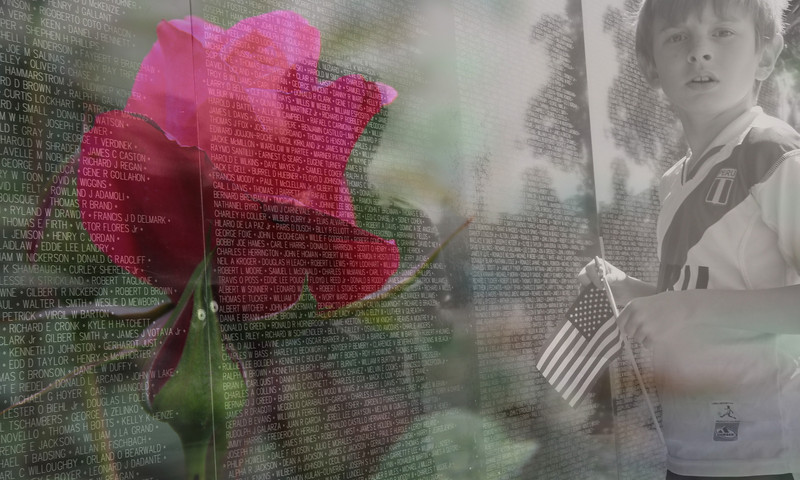 "Traveling Vietnam War Wall.  ""The Wall That Heals"" Placentia, Ca"