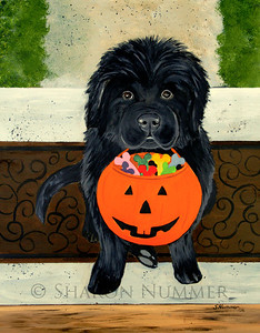 "Trick Or Treat""  © 2006 Acrylic on Panel. Original painting is sold."