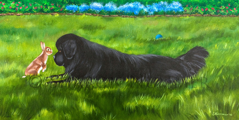 """Best Buddies""  © 2010  By Sharon Nummer Acrylic on Linen Canvas Original in private collection"