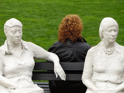 Three People on Four Benches plus one  - George Segal