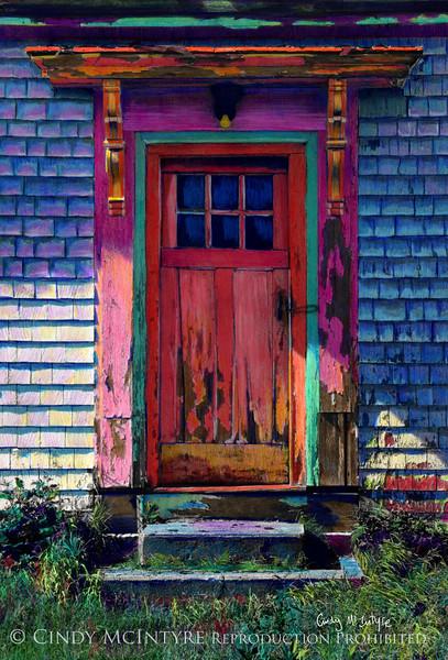 Seen Better Days - old door in Lubec, Maine