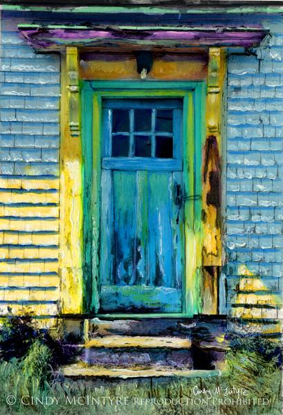 Seen Better Days Blue Door - Lubec, Maine