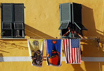 God Bless America in Cinque Terra - Vernazza, Italy