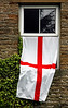 English flag displayed in support of 2006 World Cup team - Langthwaite, England