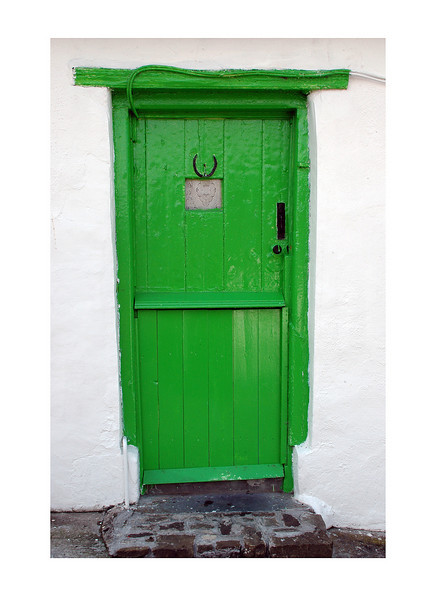 Green door, Clovelly, England.