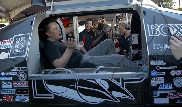 Dr, Evermor's Grandson is a member of the UW Badgerloop Team, and had the joy of being at the SpaceX Hyperloop competition in Hawthorne, CA.  So grateful that Elon took the time to personally check out their Pod!  Thank you Elon!!!