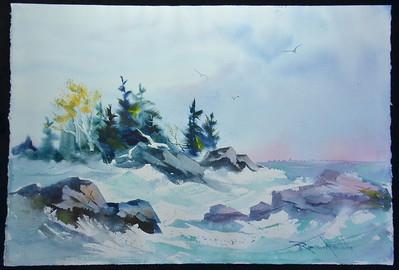 Dr. Joe Robinson Watercolors  © Chuck Calhoun