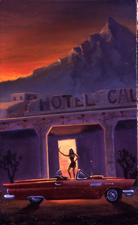 "Hotel California, oil on canvas, 19""x22"""