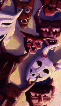 "Los Demonios # 2, oil on canvas, 20""x23"""