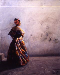 "Esencia Chiapaneca, oil on canvas, 24""x30"""