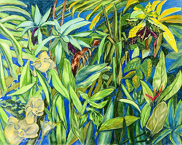 "©John Rachell Title:Garden Series, March 18, 2005 Image Size: 23""d X 29""w Dated: 2005 Medium & Support: Pastels on Strathmore 2-ply paper Signed: LL Signature"